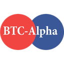 BTC-Alpha price, market cap on Coin360 heatmap